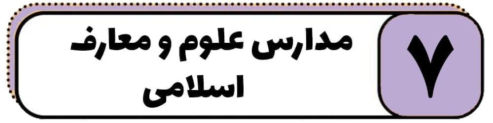 مدارس علوم و مغارف اسلامی ایران