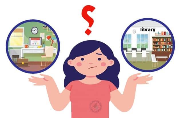 توی خونه درس بخونیم یا کتابخونه؟